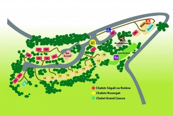 Plan du village de vacances Les Chalets de la Gazonne